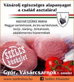 Széles Húsüzlet Vásárcsarnok Győr