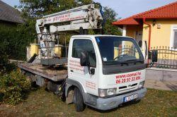 Csomai Tiborfakivágás, kosaras-autók, speciális kosaras emelő, teupen leo 26, veszélyes fák kivágása